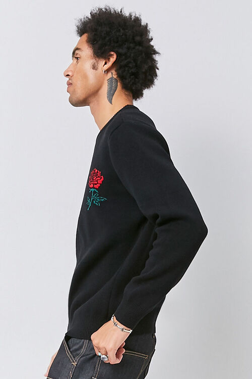 Brushed Rose Graphic Sweater, image 2