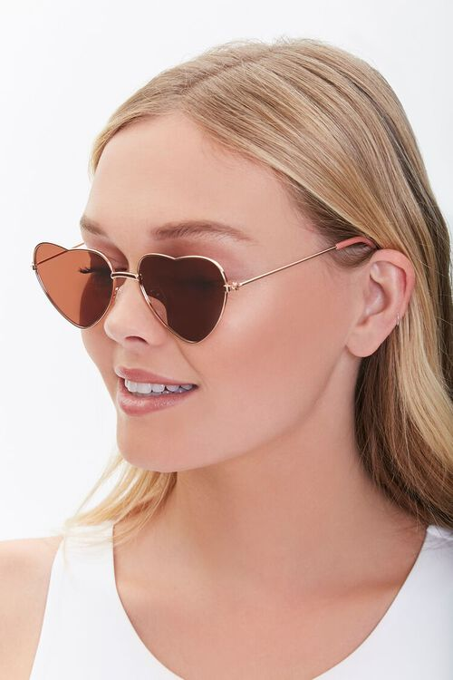Heart-Shaped Metal Sunglasses, image 1