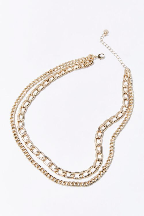 Sustainable Layered Chain Necklace, image 2
