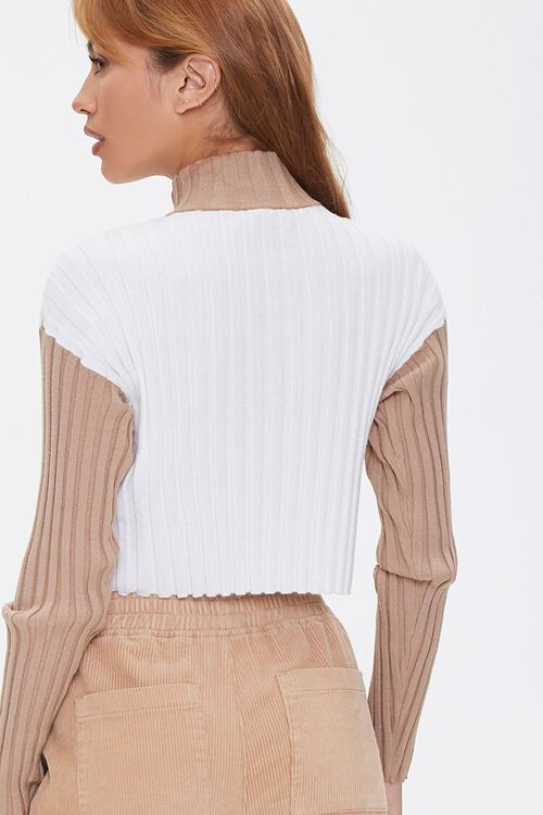 Sweater-Knit Colorblock Pullover, image 3