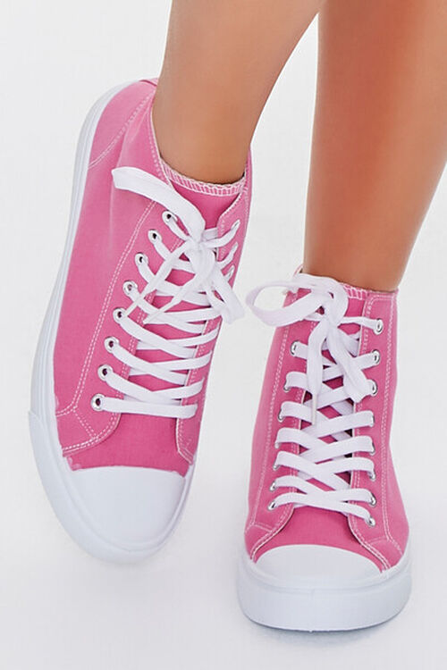 PINK Lace-Up High-Top Sneakers, image 4