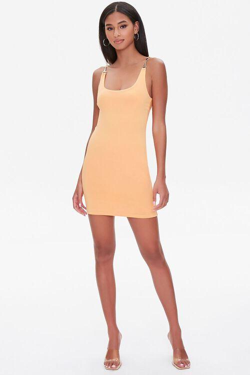 Mini Bodycon Chain-Strap Dress, image 4