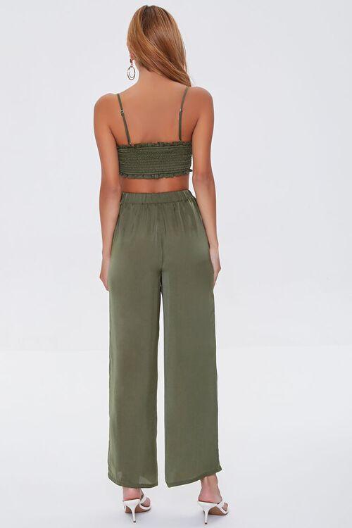 Ruched Crop Top & Drawstring Pants Set, image 3