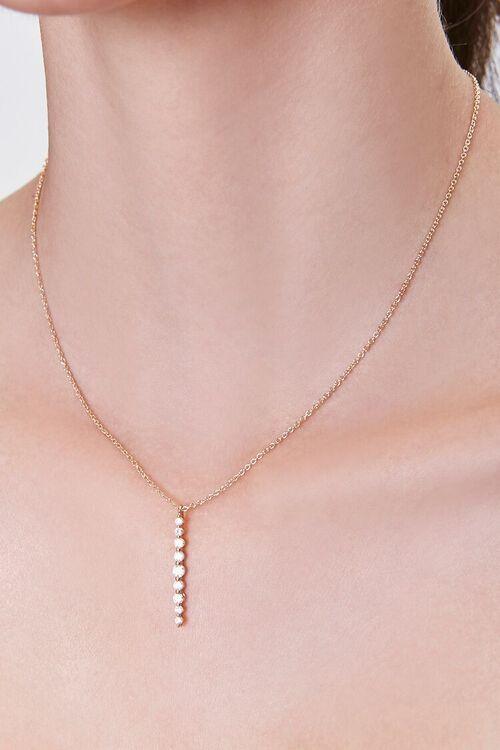 Rhinestone Pendant Chain Necklace, image 1