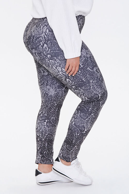 Plus Size Active Snake Leggings, image 3