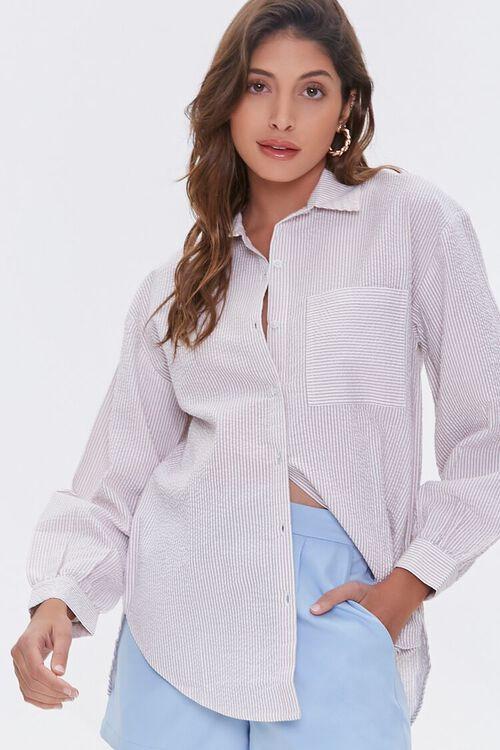 Striped Seersucker Shirt, image 1