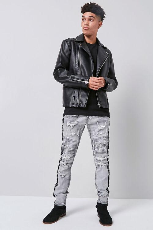 Waimea Distressed Moto Jeans, image 5