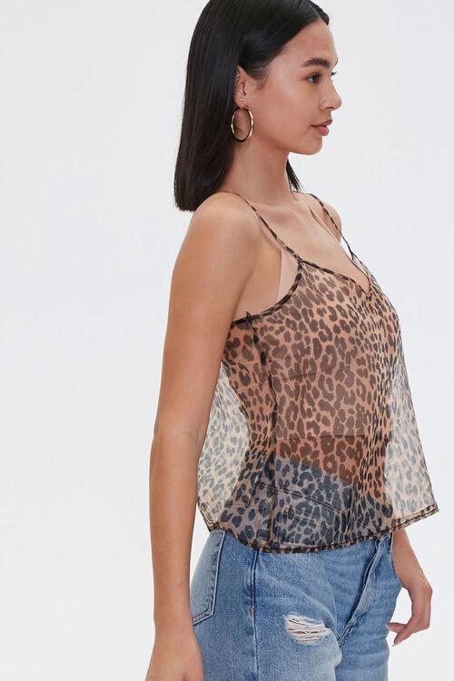 Sheer Leopard Print Cami, image 2
