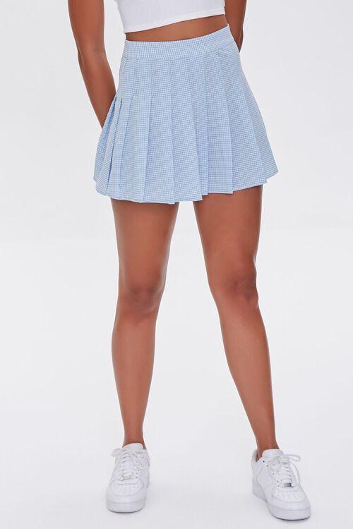 Plaid Pleated Mini Skirt, image 2