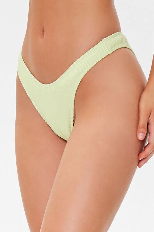 Ribbed High-Leg Bikini Bottoms, image 3