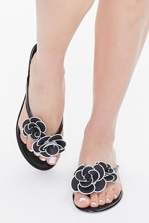 Floral Applique Thong Sandals, image 4