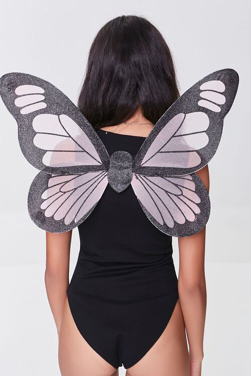 PINK/BLACK Butterfly Costume Wings, image 3