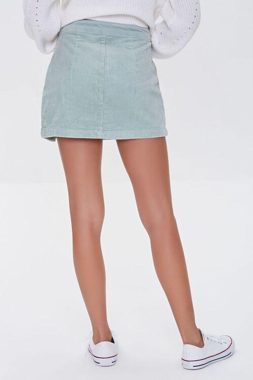 PISTACHIO Corduroy Mini Skirt, image 4