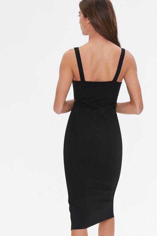 BLACK Tank Slit Midi Dress, image 3