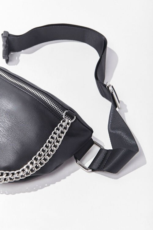 Curb Chain Zip-Up Fanny Pack, image 2