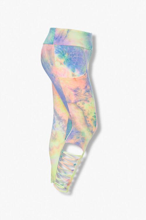 Plus Size Tie-Dye Caged Leggings, image 1