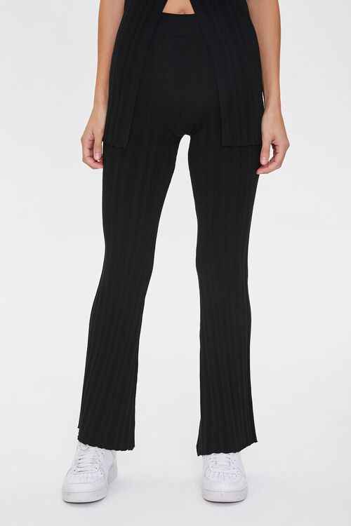 Ribbed Flare-Leg Pants, image 2
