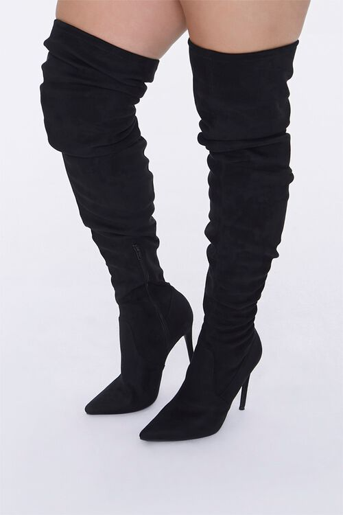 Over-the-Knee Stiletto Boots (Wide), image 1