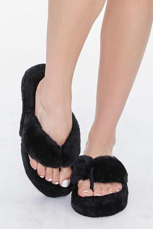 Plush Thong Slippers, image 4