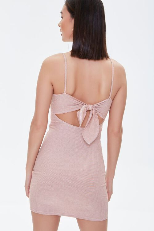 RED/CREAM Tie-Back Bodycon Dress, image 3