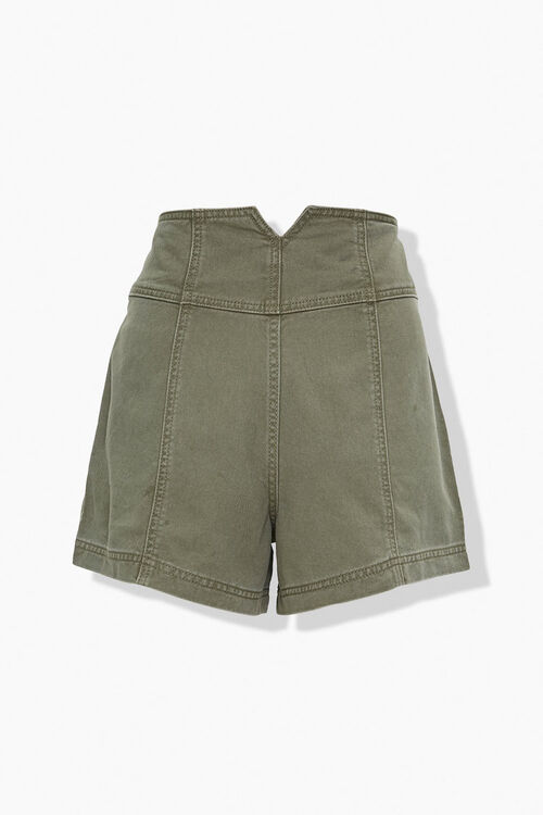 OLIVE High-Rise Button-Up Shorts, image 3