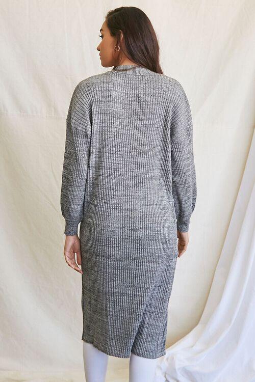 BLACK/MULTI Longline Cardigan Sweater, image 3