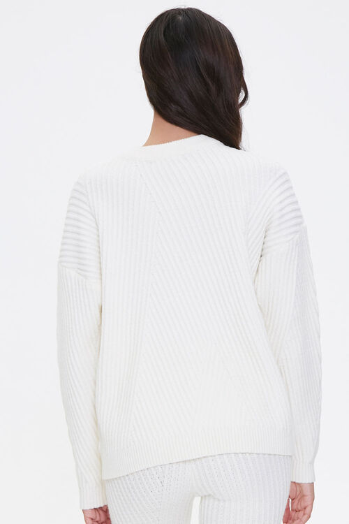 Ribbed Knit Drop-Sleeve Sweater, image 3
