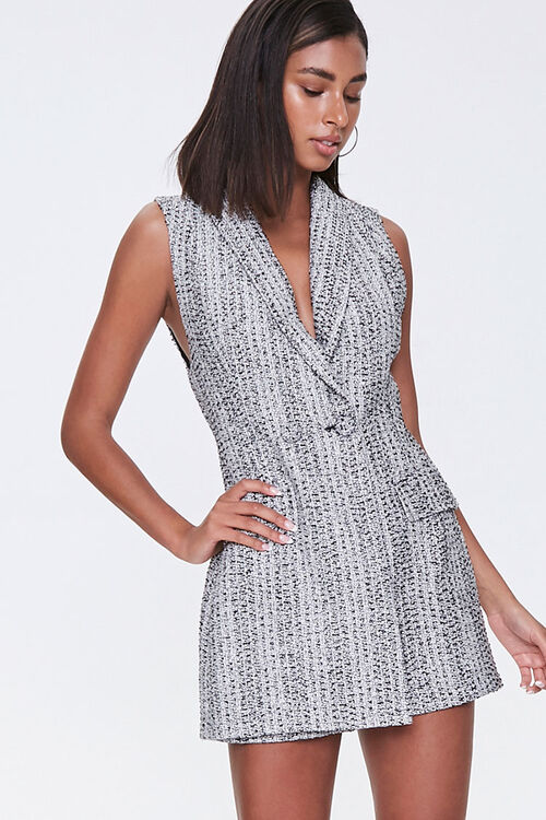 Tweed Double-Breasted Romper, image 1