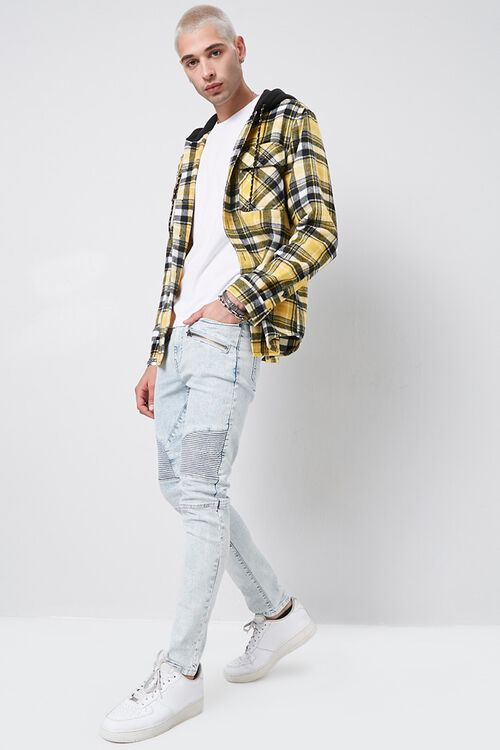 Skinny Zippered Moto Jeans, image 4