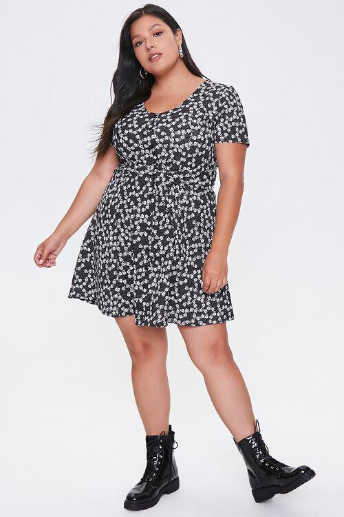 Plus Size Floral Fit & Flare Dress, image 4