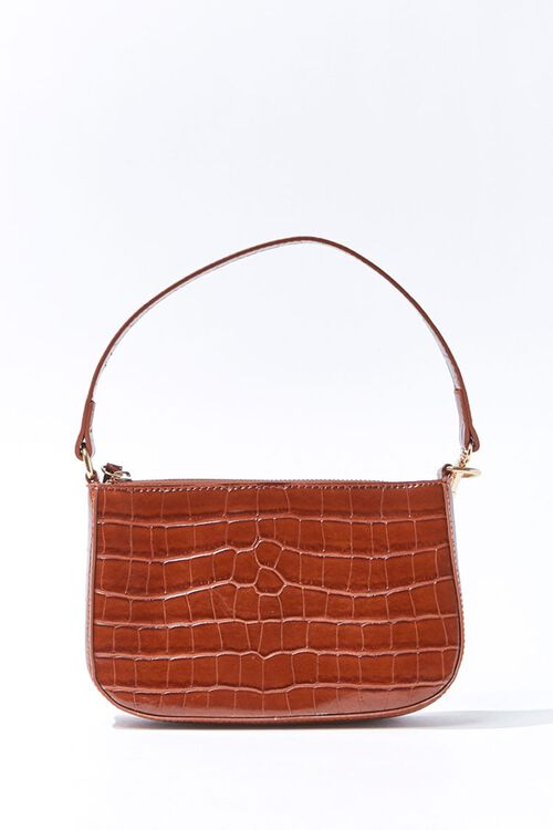 Faux Croc Leather Handbag, image 1