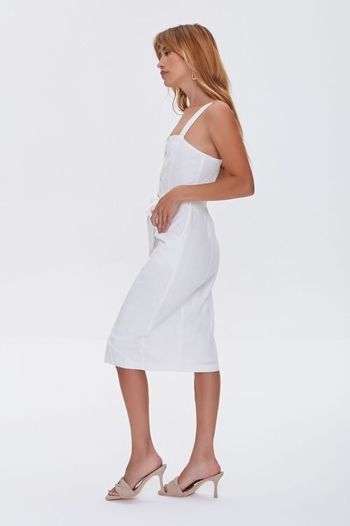 Linen-Blend Button-Front Dress, image 3