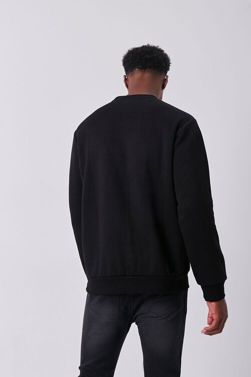 BLACK/WHITE Embroidered Spider Graphic Pullover, image 3