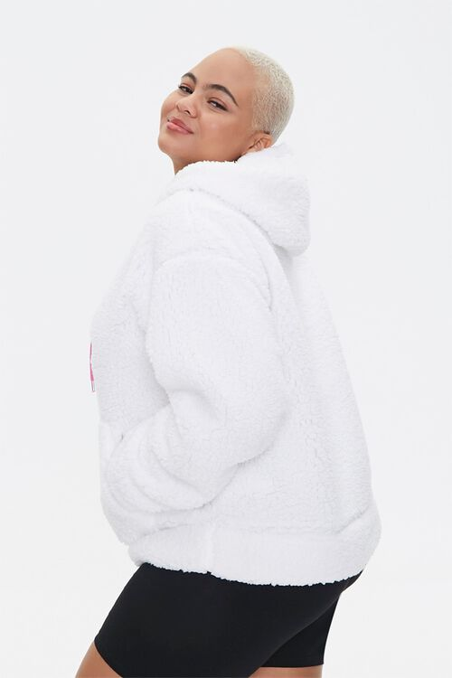 Plus Size Faux Shearling Barbie™ Hoodie, image 2