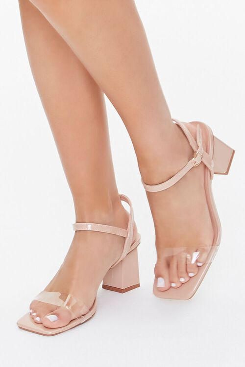 Transparent-Strap Block Heels, image 1
