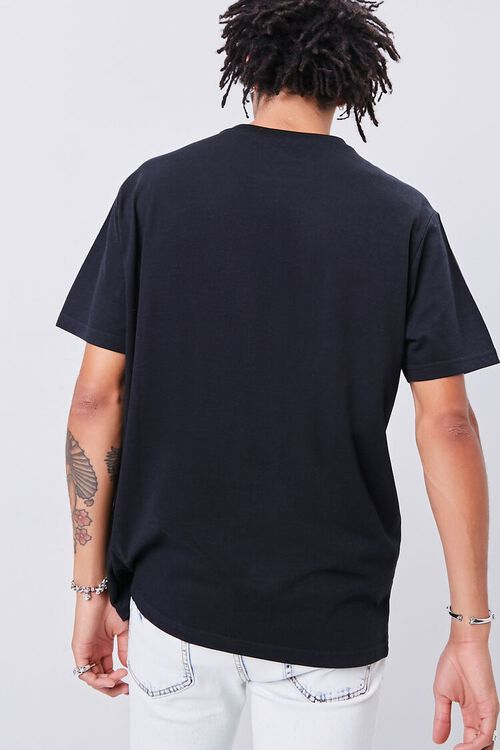 BLACK/MULTI Smiling Faces Embroidered Graphic Tee, image 4
