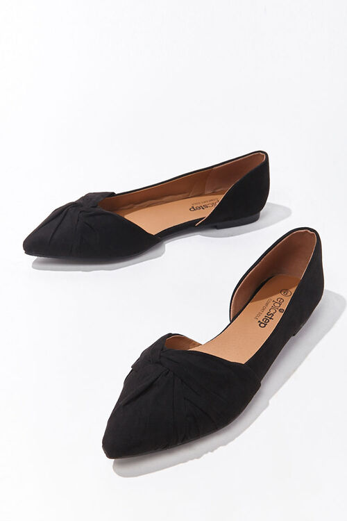 Faux Suede Twisted Vamp Flats, image 3