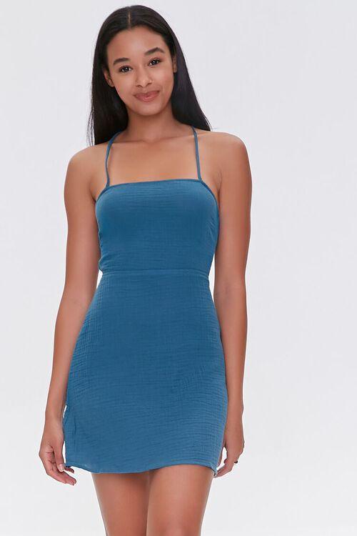 Crisscross-Back Mini Dress, image 1