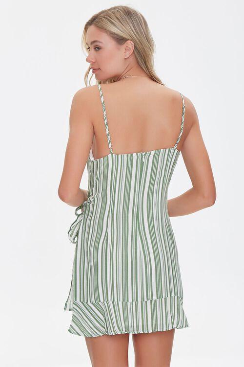 Striped Faux Wrap Dress, image 3