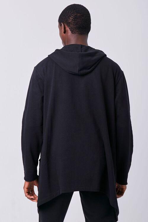 BLACK Longline Hooded Cardigan, image 3
