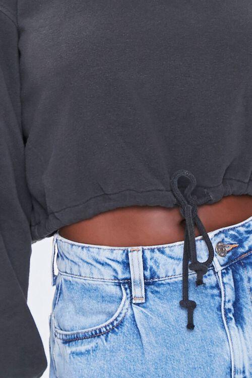 Boxy Self-Tie Drawstring Sweatshirt, image 5