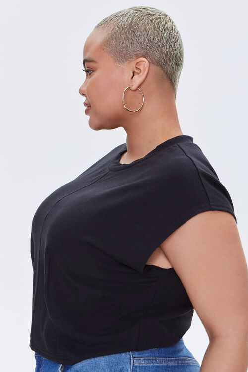Plus Size Cap-Sleeve Tee, image 2