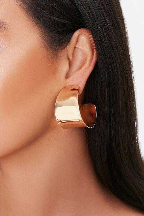 Flat Hoop Earrings, image 1