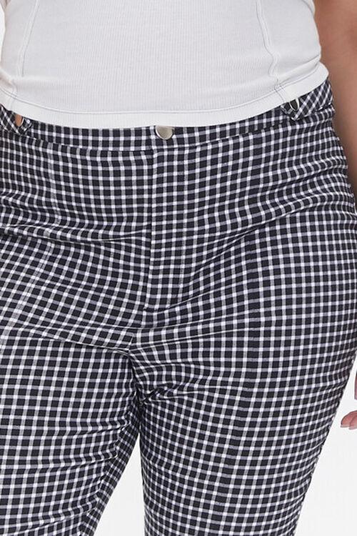 Plus Size Gingham Skinny Pants, image 5