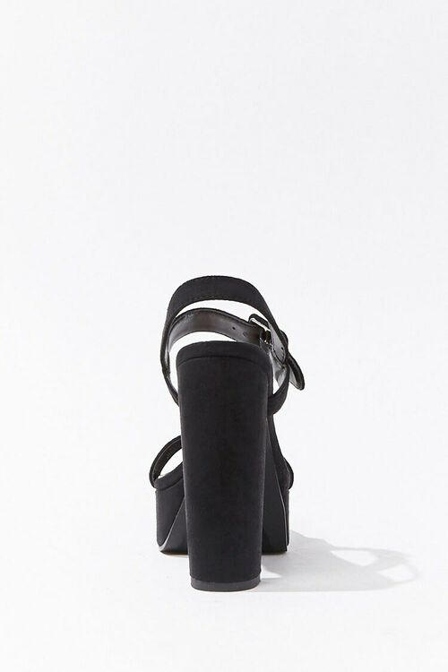 Faux Suede Ankle-Strap Platform Heels, image 3