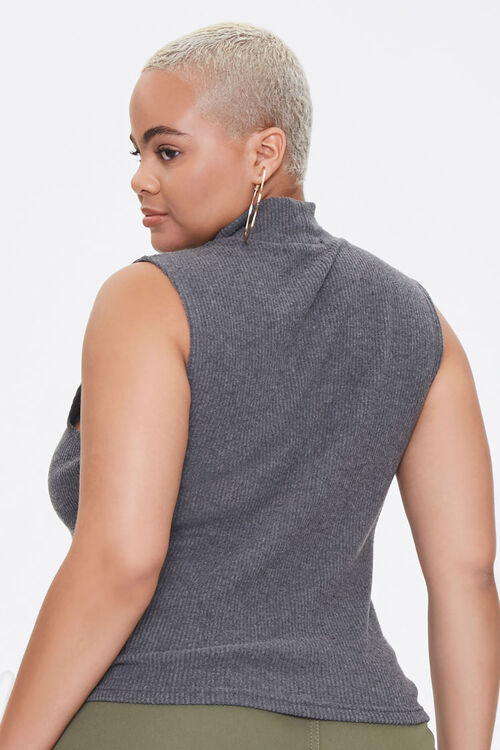 Plus Size Mock Neck Crop Top, image 3