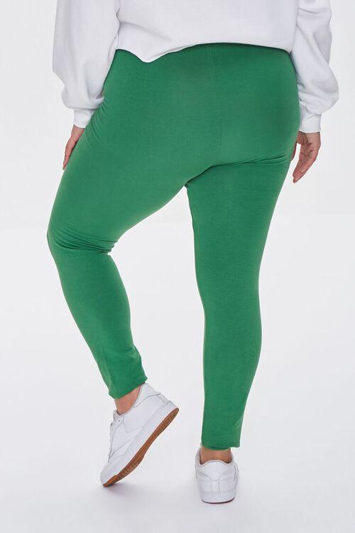 JUNIPER Plus Size Basic Organically Grown Cotton Leggings, image 4