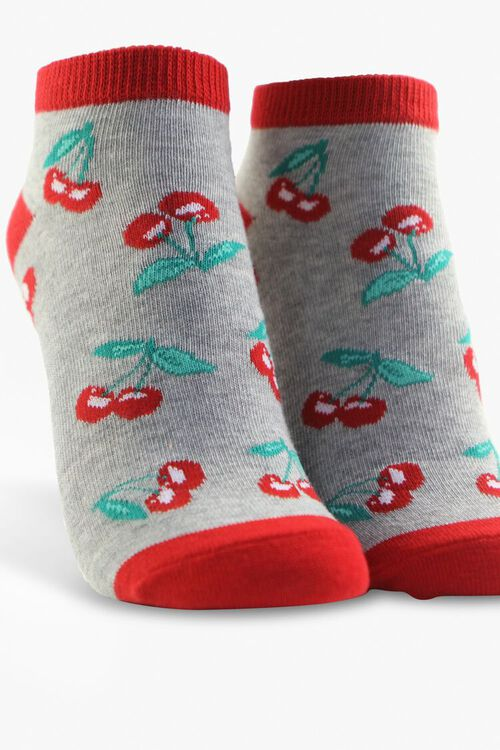 Cherry Print Ankle Sock Set, image 6