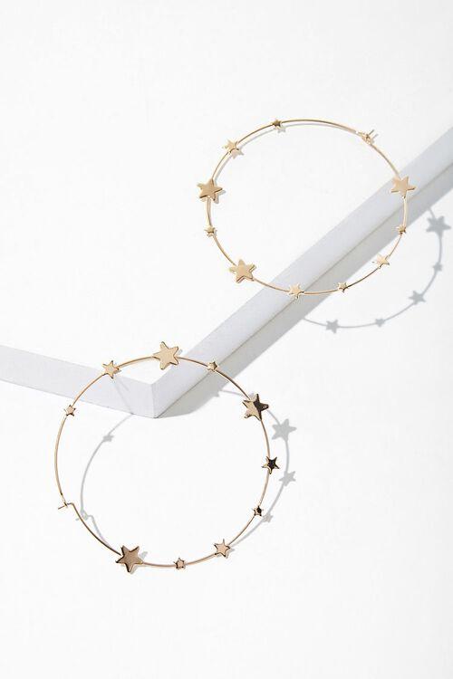 Star Hoop Earrings, image 1