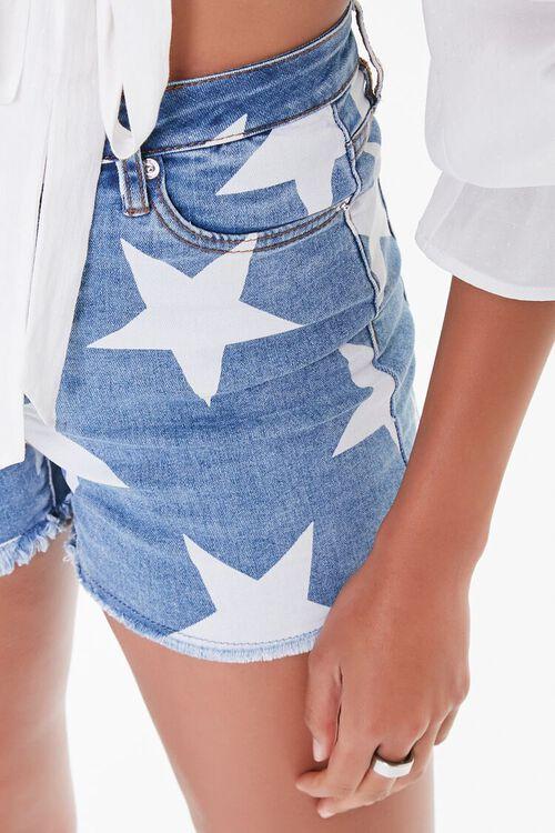 Star Print Denim Shorts, image 6